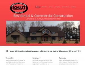 Shawn Schultz Construction Web Design